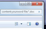 How to search for a word inside a file in windows 7